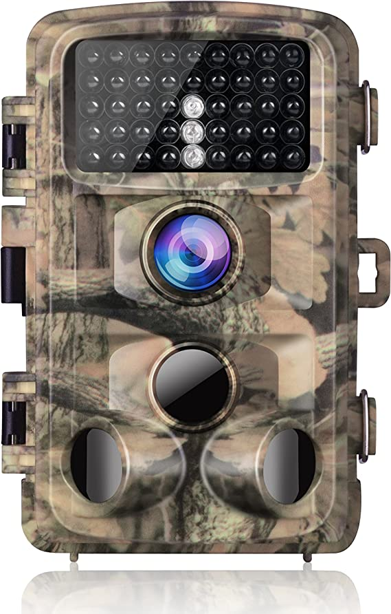 """Campark Trail Camera-Waterproof 14MP 1080P Game Hunting Scouting Cam with 3 Infrared Sensors for Wildlife Monitoring with 120°Detecting Range Motion Activated Night Vision 2.4"""" LCD 42pcs IR LEDs"""