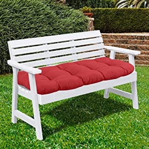 Sweet Home Collection Patio Chair Cushions Outdoor Loveseat Lounge Seat Pads Premium Comfortable Thick Fiber Fill Tufted 44