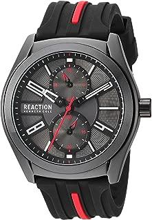Kenneth Cole REACTION Men's Dress Sport Japanese-Quartz Watch with Silicone Strap, Black, 21.4 (Model: RK50900003)