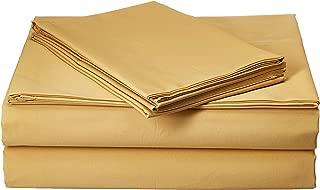 Pinzon 300 Thread Count Percale Cotton Sheet Set - Queen, Straw