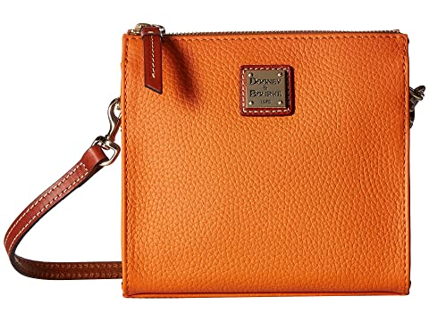 North amp; Crossbody South Tan Pebble amp; Tangerine Janine Dooney Trim Bourke X70qIA5