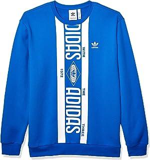 adidas Originals Men`s Print Scarf Crew Sweatshirt