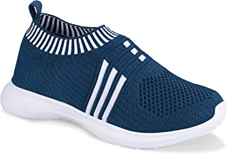 BeFit Junior|Troy | Unisex Knitted Upper Shoes for Kids | Trendy, Comfortable, Washable | Teal-Blue