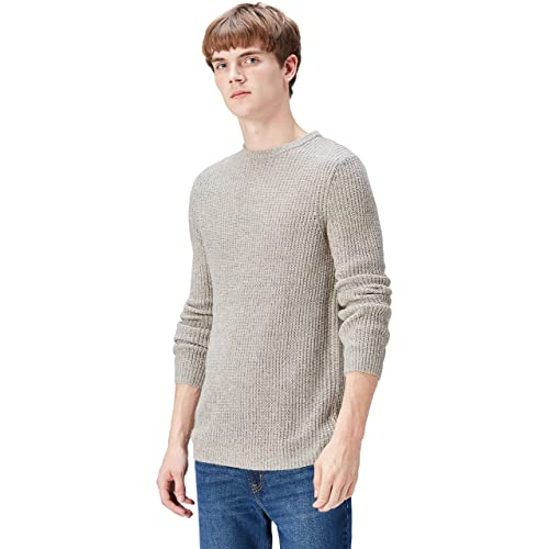 b9c581d39 FIND Men s Jumper in Crew Neck Fisherman Knit