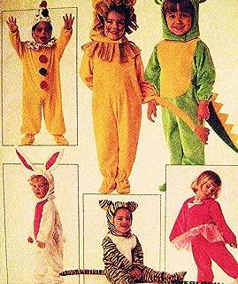 McCall's 7853 Childs Size 2 Dino, Rabbit, Tiger, Clown, Lion, Warm Ballerina, Santa, Mouse Costume Pattern