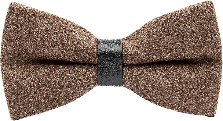 Men's Retro Solid Color Wool Evening Gown Bow Tie Pre-tie Party Cashmere Bowties