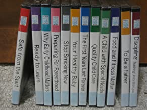 Twelve DVD's - I Am Your Child Video Series (I am Your Child Video Series, To Be a Father/Discipline/Food & Fitness Matter/A Child with Special Needs/Quality Child Care/The First Years Last Forever/Your Healthy Baby/Stop Smoking Now/Preparing for Parenthood/Why Early Childhood Matters/Ready to Learn/Safe from the Start)