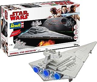 Revell RV06749 Build & Play - Star Wars Imperial Star Destroyer - 06749, schaal 1:4000, getrouwe replica met beweegbare de...