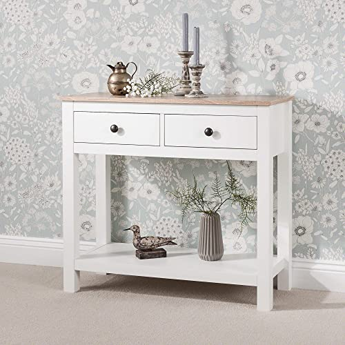 Laura James White Console Table  be3a81ed5
