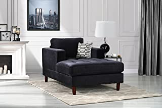 Amazon.com: Black - Chaise Lounges / Living Room Furniture ...