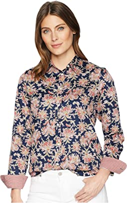 No-Iron Paisley Sateen Shirt