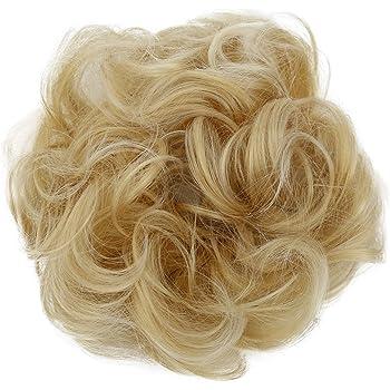 PRETTYSHOP XL Hairpiece Scrunchy Updo Bridal Hairstyles Scrunchie Voluminous Curly Messy Bun Light Blonde G15E
