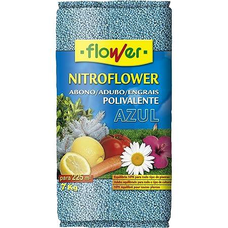 Flower 10598 10598-Abono polivalente, 7 kg, Color Azul, No Aplica, 26.5x9x41.5 cm