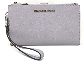 5156e9f4d00e Michael Kors Jet Set Travel Double Zip Saffiano Leather Wristlet (Lilac)