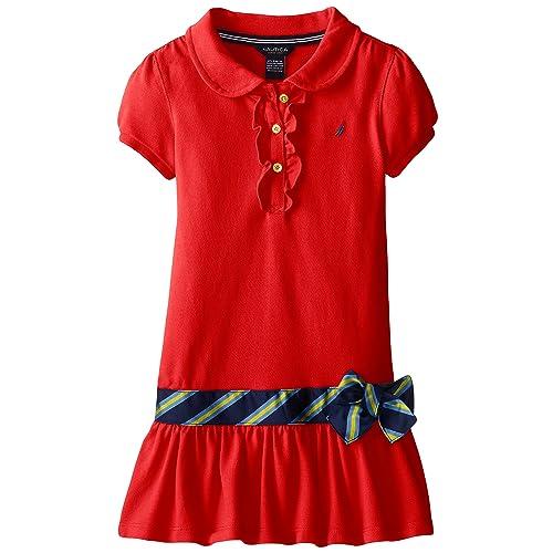 4648d8c80 Nautica Girls' Short Sleeve Polo Dress
