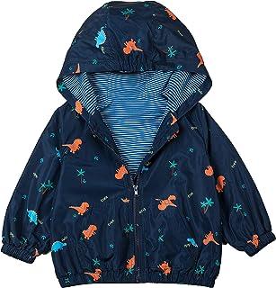 COTTON FAIRY Baby Boys' Dinosaur Coats Hoodie Jackets