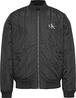 Calvin Klein Men's Double Side Pocket Quilted Bomber Jacket