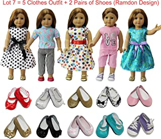 dfc0e345bf2a3 ZITA ELEMENT American 18 inch Girl Doll Outfits Lot 7   5 Daily Costumes  Clothes +