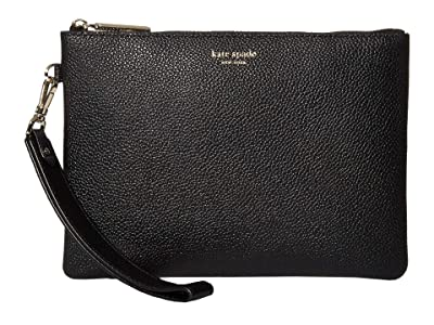 Kate Spade New York Margaux Small Pouch Wristlet (Black) Handbags