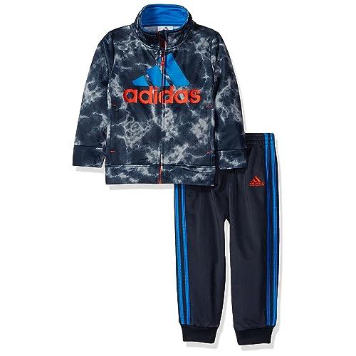63d8cb79d7f adidas Toddler Boys' Tricot Jacket and Pant Set, Dark Grey, ...
