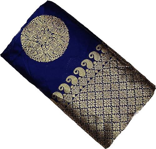 Blue Wish Women s Kanchipuram Silk Saree With Blouse Piece