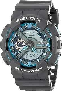 Casio G-Shock GA-110TS-8A2 Grey Blue Digital Analog Men's Sports Watch