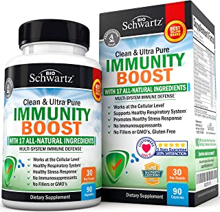 17-in-1 Immunity Boost Supplement with Elderberry, Vitamin C, Echinacea & Zinc - Once Daily Multi-System Immune Defense - ...