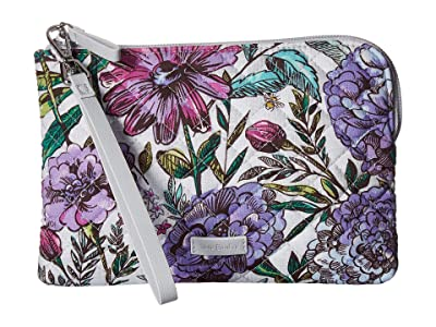 Vera Bradley Iconic Pouch Wristlet (Lavender Meadow) Wristlet Handbags