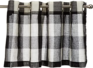 Lorraine Home Fashions 09570-V-00146 BLACK Courtyard Grommet Window Curtain Valance,..