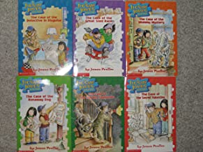 Six Jigsaw Jones Mystery Paperbacks (The Case of the Detective in Disguise; The Case of the Great Sled Race; The Case of the Runaway Dog; The Case of The Mummy Mystery; The Case of the Spooky Sleepover; The Case of the Secret Valentine)