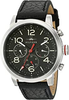 Tommy Hilfiger Men's 1791232 Jake Analog Display Japanese Quartz Black Watch