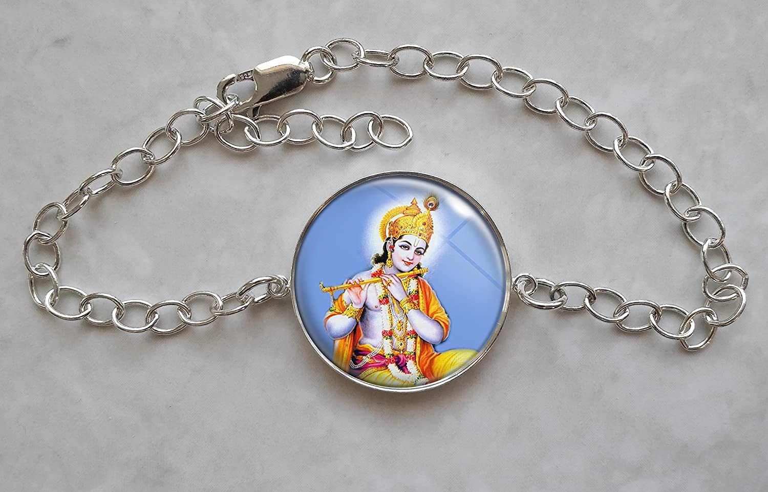 Krishna Cheap mail order specialty store कृष्ण San Diego Mall Sterling Charm Bracelet Silver