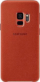 Samsung Alcantara–Funda para Galaxy S9, color Rojo
