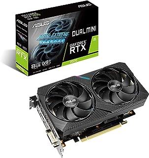 ASUS Dual NVIDIA GeForce RTX 2070 Mini OC Edition Gaming Graphics Card (PCIe 3.0, 8GB GDDR6 Memory, HDMI, DisplayPort, DVI...
