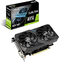 ASUS Dual NVIDIA GeForce RTX 2070 Mini OC Edition Gaming Graphics Card (PCIe 3.0, 8GB GDDR6 Memory, HDMI, DisplayPort, DVI...