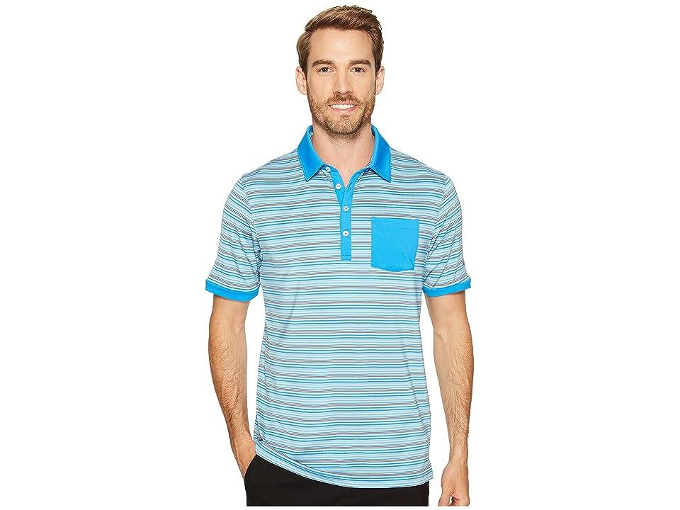 PUMA Golf Tailored Pocket Stripe Polo (French Blue/Bluefish) Men