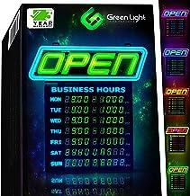 Led Open bord met bedrijfsuren, met 1000 kleurencombinaties, passend bij uw merk, Neon Flash, of Scroll programmeerbare ap...