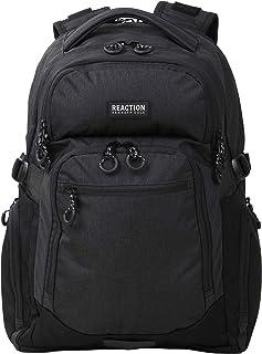 Kenneth Cole Reaction Travelier Multi-Pocket Laptop & Tablet Business, School, & Travel Backpack Bag, Heathered Black, One Size