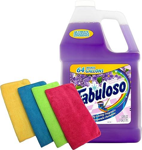Fabuloso Makes 64 Gallons Lavender Purple Liquid Multi-Purpose Professional Household Non Toxic Fabolous Hardwood Flo...