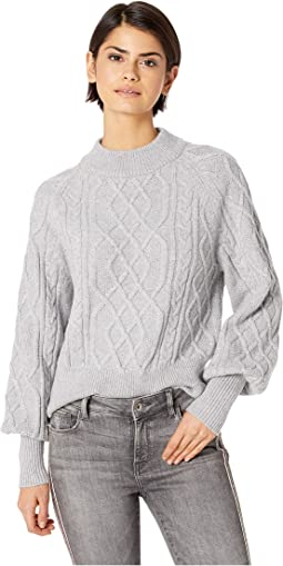 Crew Neck Mixed Cable Sweater