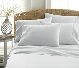 Becky Cameron Luxury Soft Deluxe Hotel Quality 6 Piece Bed Sheet Set, TwinXL, Light Gray