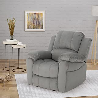 Christopher Knight Home Edwin Recliner, Grey + Black
