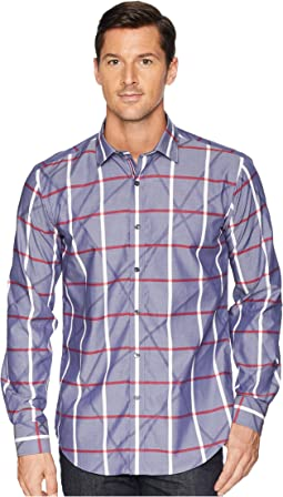 Shaped Fit Plaid Woven Shirt