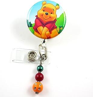 キュートPooh Bear?–?ナースバッジリール?–?Retractable IDバッジホルダー?–?ナースバッジ?–?バッジクリップ?–?バッジReels?–?Pediatric?–?RN?–?名前バッジホルダー