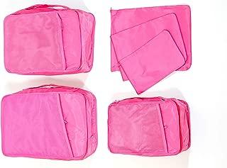 Perfect Catch 旅行行李箱6件套压缩收纳包 粉红色 Multi-size