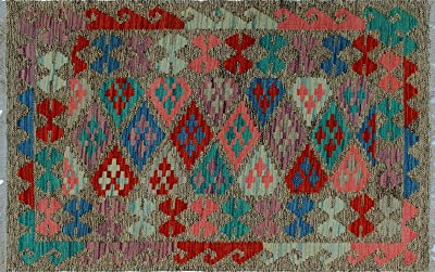 Blue Geometric Print Indoor//Outdoor Rug 2 x 3 E by design RGN538BL14BL40-23 Bombay