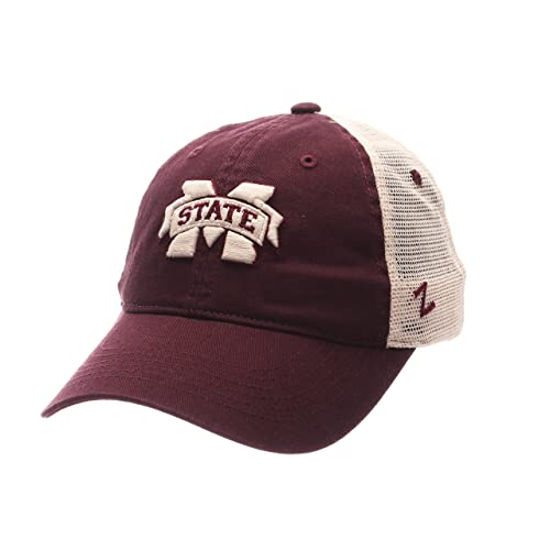c6fd192095aac7 Zephyr NCAA Mississippi State Bulldogs Adult Men University Relaxed Cap,  Adjustable, Team Color/