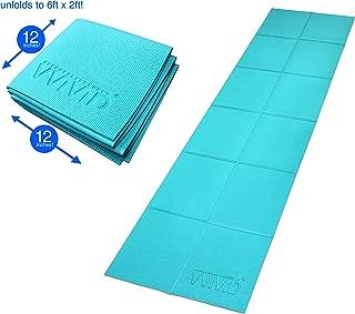 VViViD Foldable 6 Milimeter Thick PVC Padded Square Tile 6 Feet x 2 Feet Car Repair Work Mat