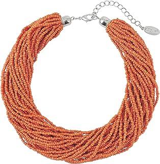 BOCAR Plusieurs brins Faite à la Main avec Perles 40,6cm Déclaration Collier Collier pour Femme avec boîte Cadeau
