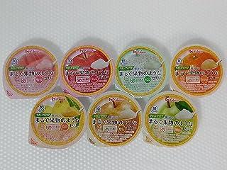 ハウス食品 やさしくラクケア まるで果物のようなゼリー (UDF区分3:舌でつぶせる) バラエティ7種類パック (もも・メロン・洋なし・マンゴー・りんご・みかん・なし) 60gx各1個